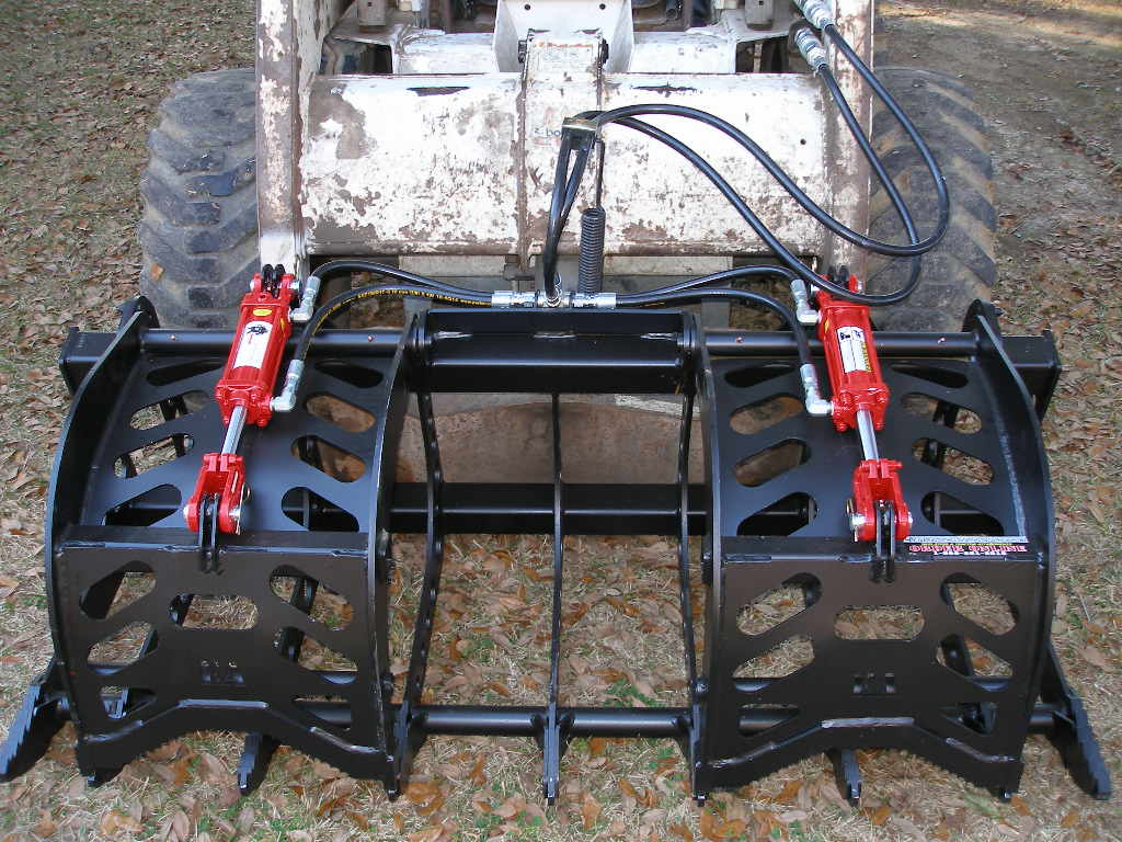 top view of root rake - root grapple